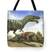 A Gorgosaurus Libratus Stands Tote Bag