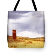 A Grain Elevator In A Field Tote Bag