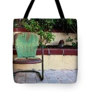 A Green Chair Tote Bag