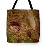 A Greenfinch At Its Nest Tote Bag