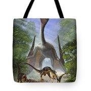 A Group Of Balaur Bondoc Dinosaurs Tote Bag