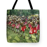 A Group Of New Guinean Men Performing Tote Bag