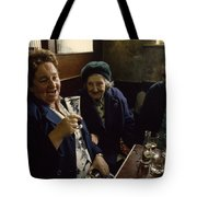 A Group Of Old Friends Gathers Tote Bag
