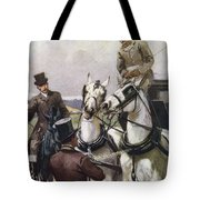 A Handsome Pair. Illustration By Lucy Tote Bag