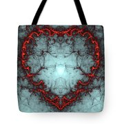 A Heart Afire Tote Bag