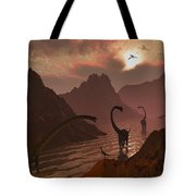 A Herd Of Omeisaurus Dinosaurs Tote Bag