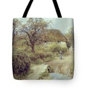 A Hill Farm Symondsbury Dorset Tote Bag by Helen Allingham