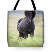 A Horse With Its Mane Blowing In The Tote Bag
