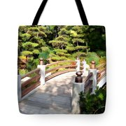 A Japanese Garden Bridge From Sun To Shade Tote Bag