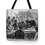 A Jury Of Whites And Blacks Tote Bag