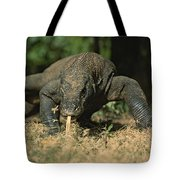 A Komodo Dragon Sensing The Air Tote Bag