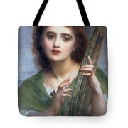 A Lady With Lyre Tote Bag