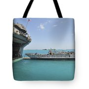 A Landing Craft Utility Approaches Tote Bag