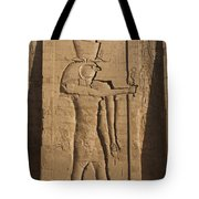 A Large Relief Of The God Horus Tote Bag