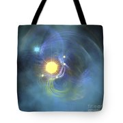 A Large Sun Is Veiled By Surrounding Tote Bag