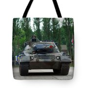 A Leopard 1a5 Mbt Of The Belgian Army Tote Bag by Luc De Jaeger