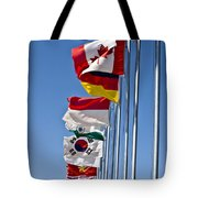 A Line Of Flags Represent The Countries Tote Bag