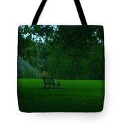 A Lonely Autumn Bench  Tote Bag