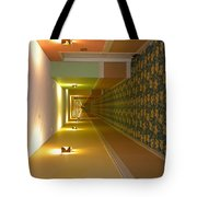 A Long Hallway Flipped Sideways Tote Bag
