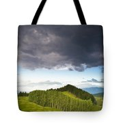 A Lush Green Landscape With Grassy Tote Bag