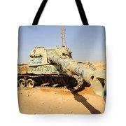 A M109 Howitzer Destroyed By Nato Tote Bag
