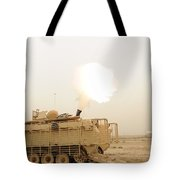 A M120 Mortar System Is Fired Tote Bag