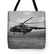 A Macedonian Mi-17 Helicopter Landing Tote Bag