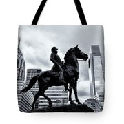 A Man A Horse And A City Tote Bag