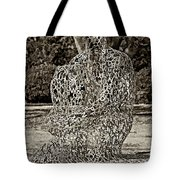 A Man Of Letters Sepia Tote Bag