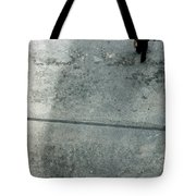 A Man Walked Visible From Above Tote Bag