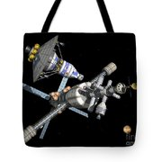 A Manned Mars Landerreturn Vehicle Tote Bag