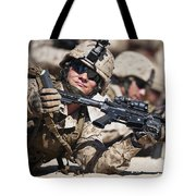 A Marine Shows His Cleared Weapon Tote Bag