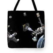 A Mars Cycler Travels By The Earth Tote Bag