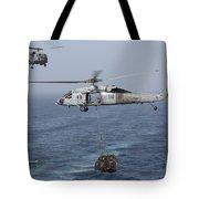 A Mh-60s Knighthawk Transfers Cargo Tote Bag