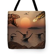 A Mighty T. Rex Roars From Overhead Tote Bag