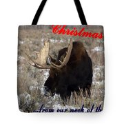 A Moose Christmas Wish Tote Bag