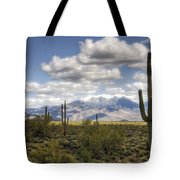 A Morning In The Desert  Tote Bag