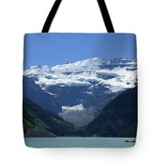 A Mountain Range With A Lake In The Tote Bag
