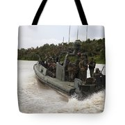 A Navy Riverine Patrol Boat Conducts Tote Bag