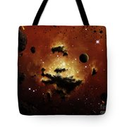 A Nebula Evaporates In The Far Distance Tote Bag by Brian Christensen