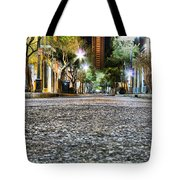 A Night On The Street Tote Bag