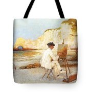 A Painter By The Sea Side Tote Bag