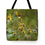 A Pair Of Goldfinches In Spokane Tote Bag