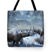 A Pair Of Woolly Rhinoceros In A Severe Tote Bag