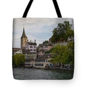 A Panorama View Of Zurich Tote Bag