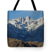 A Panoramic View Of Mount Whitney Tote Bag