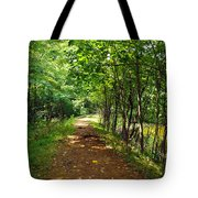 A Path Around The Pond Tote Bag