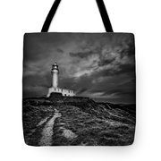 A Path To Enlightment Bw Tote Bag