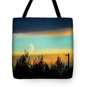 A Peek At The Moon Tote Bag