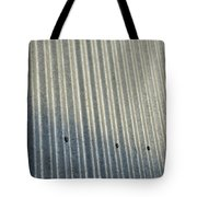 A Piece Of Metal Sheeting At A Sawmill Tote Bag